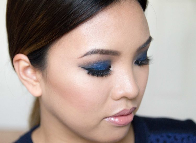 Kim K Blue Smokey Eye Asian