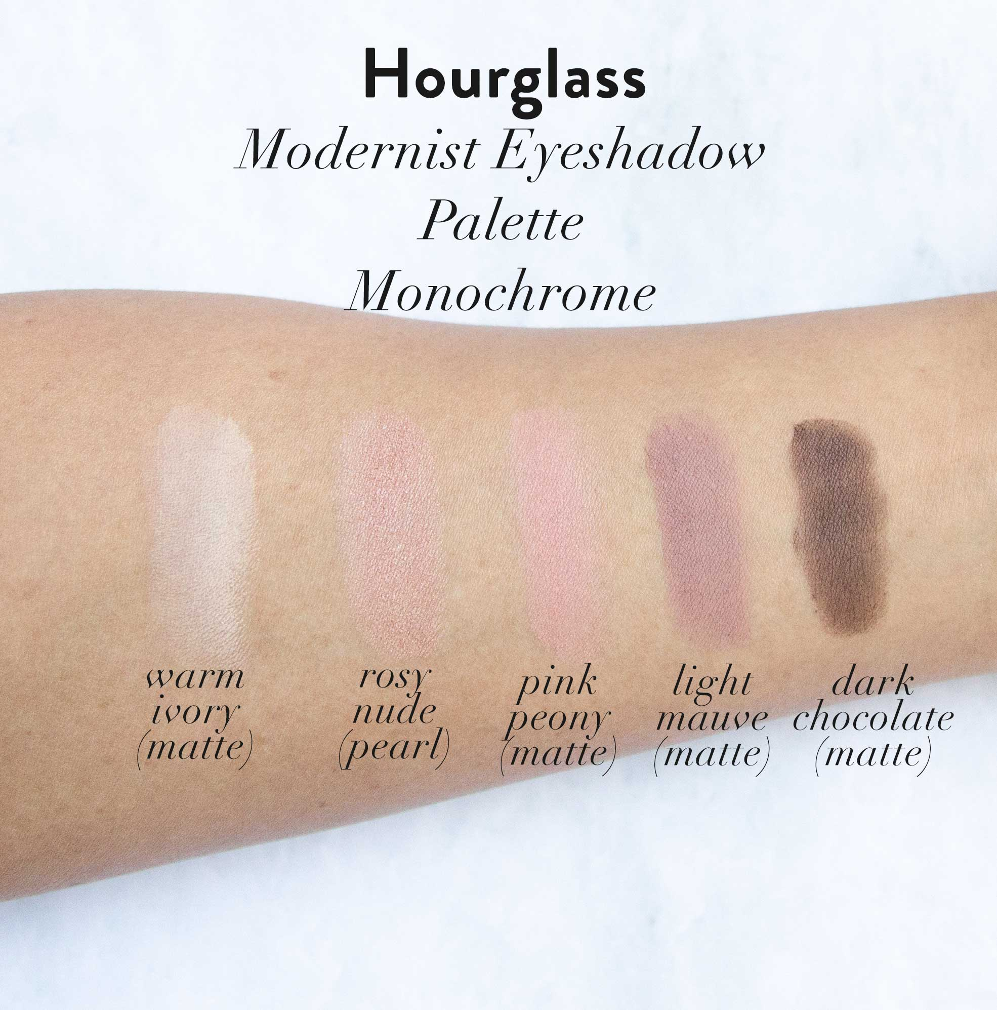hourglass modernist eyeshadow monochrome review swatches