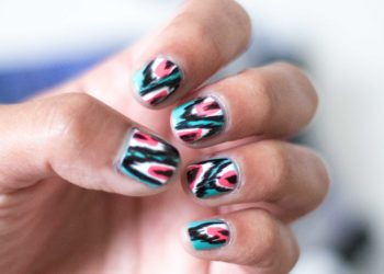 Coachella Ikat Nails