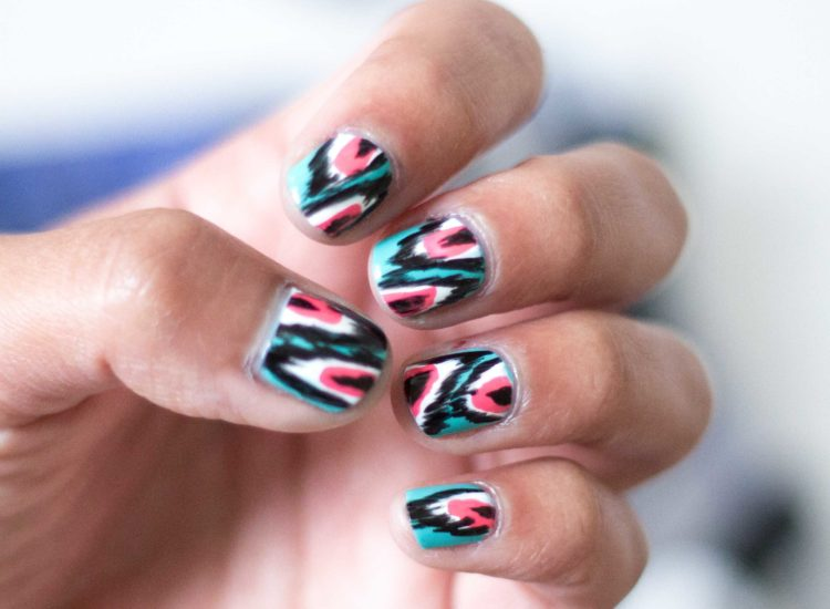 Coachella Ikat Nails