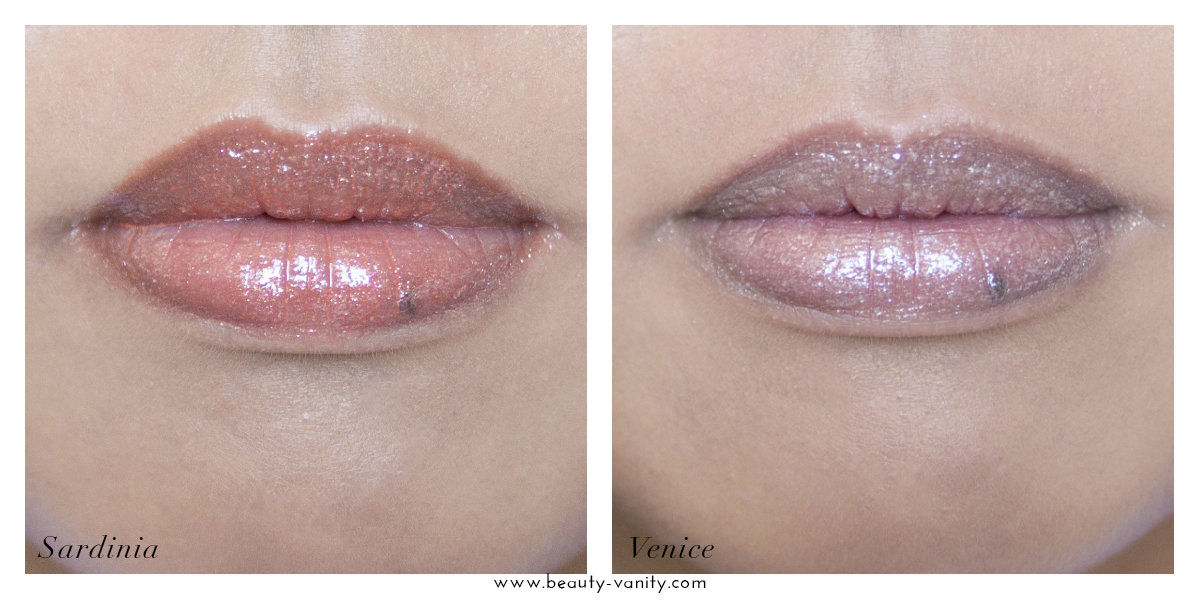 Milani Fierce Foil Lip Gloss Swatches Review Sardinia Venice