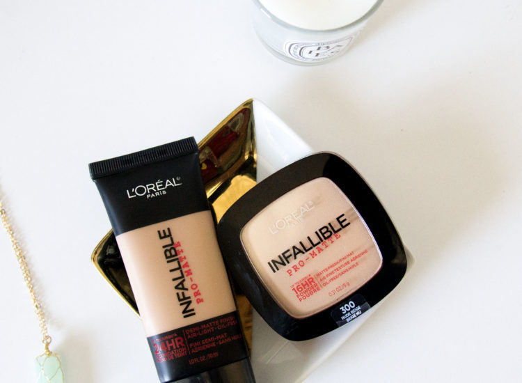 L'Oreal Infallible Pro-Matte Foundation & Powder Swatches & Review