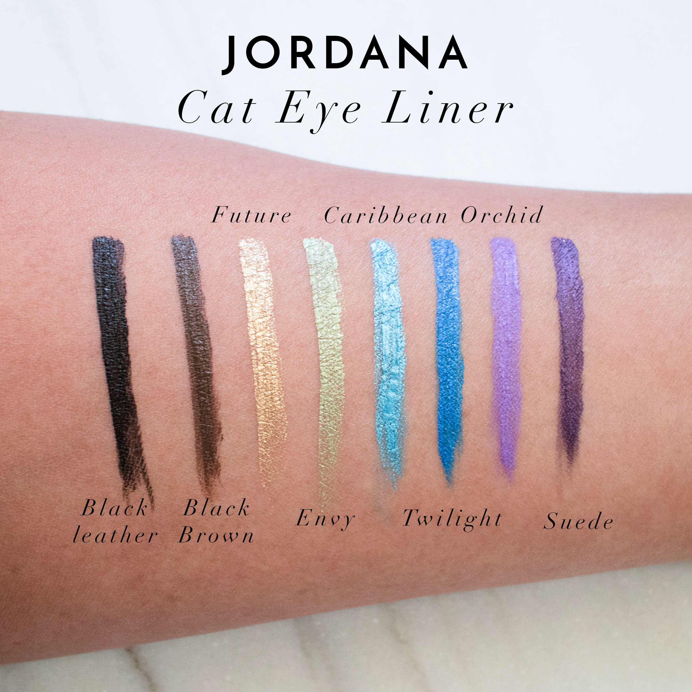 Jordana Cat Eye Liner Swatches Review
