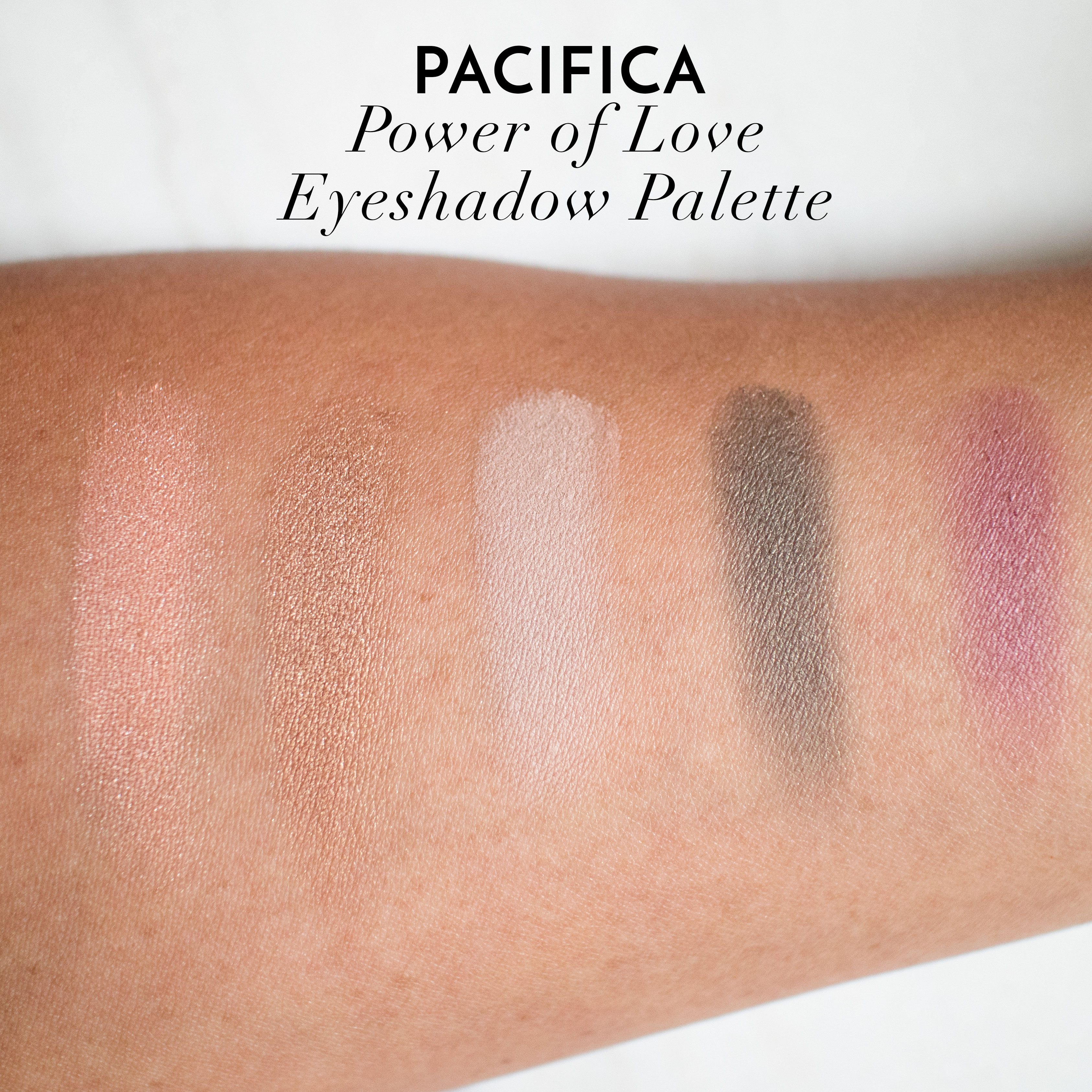 Pacifica Power of Love Eyeshadow Palette Swatches & Coco Pure Makeup Removing Wipes Review