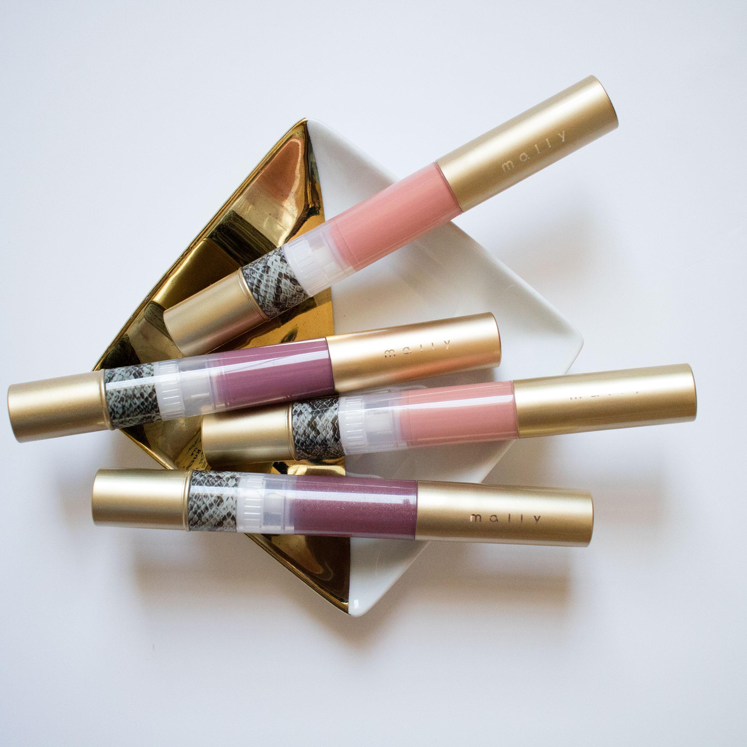 The Beauty Vanity | Mally High Shine Liquid Shine Liquid Lipstick Pens Swatches Review