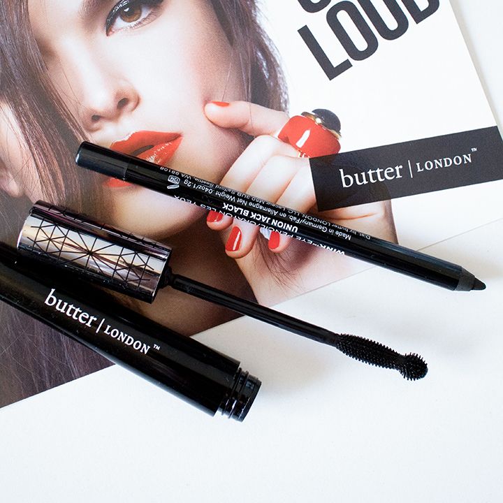 The Beauty Vanity | butter LONDON Iconoclast Mascara Eye Pencil Union Jack Black Swatches Review