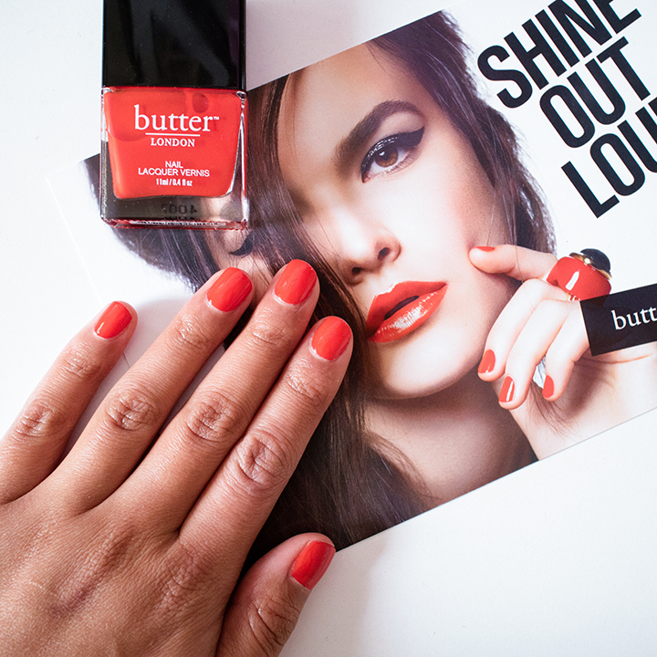 The Beauty Vanity | butter LONDON Ladybird Nail Lacquer Swatches Review