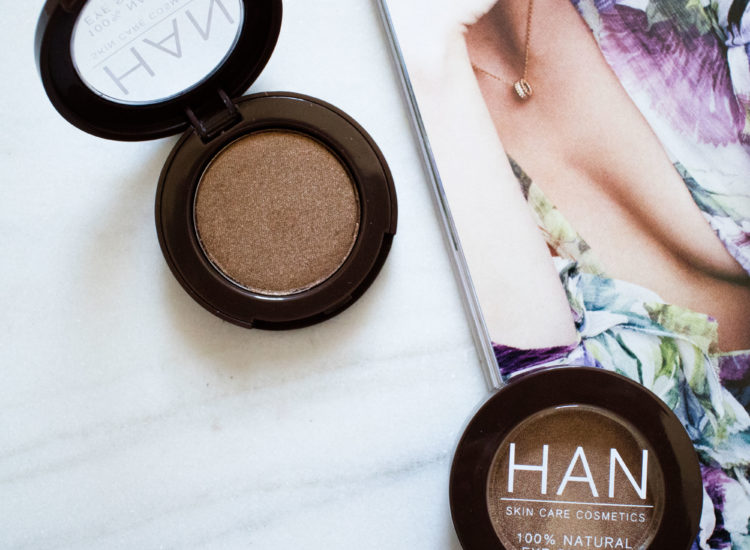 The Beauty Vanity | HAN Skin Care Cosmetics Eyeshadow Golden Glow Chocolate Bronze Review Swatches