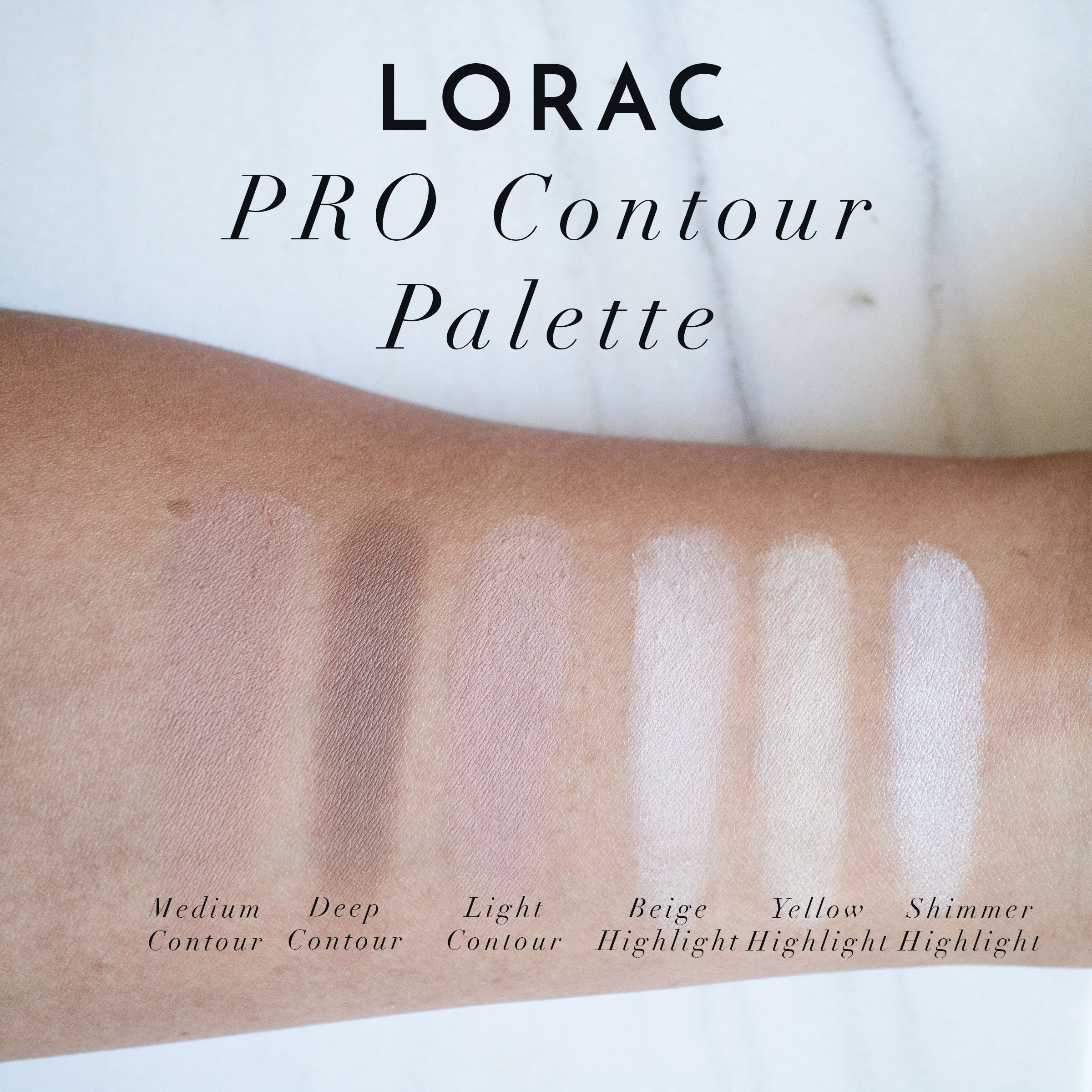 Lorac PRO Contour Palette Swatches Review - The Beauty Vanity | A ...