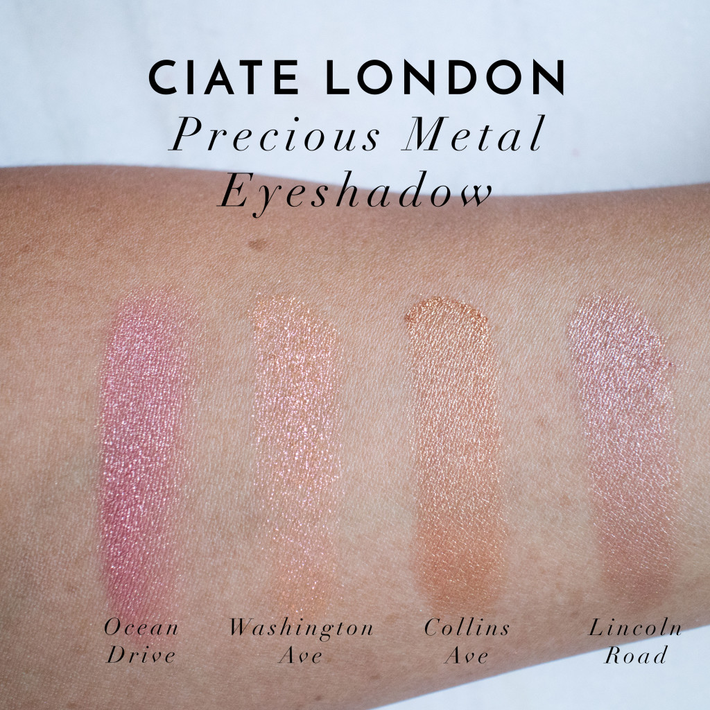 The Beauty Vanity | Ciate London Precious Metal Eyeshadow Swatches Review
