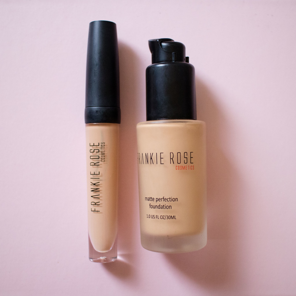 The Beauty Vanity | Frankie Rose Cosmetics Matte Perfection Foundation Our Lil Secret Concealer Review Swatches
