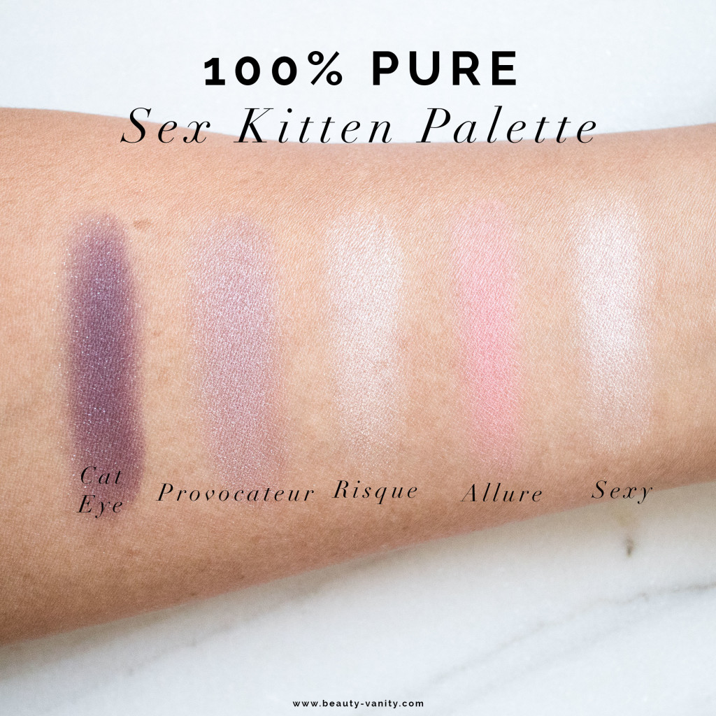 The Beauty Vanity | 100% Pure Sex Kitten Palette Swatches Review