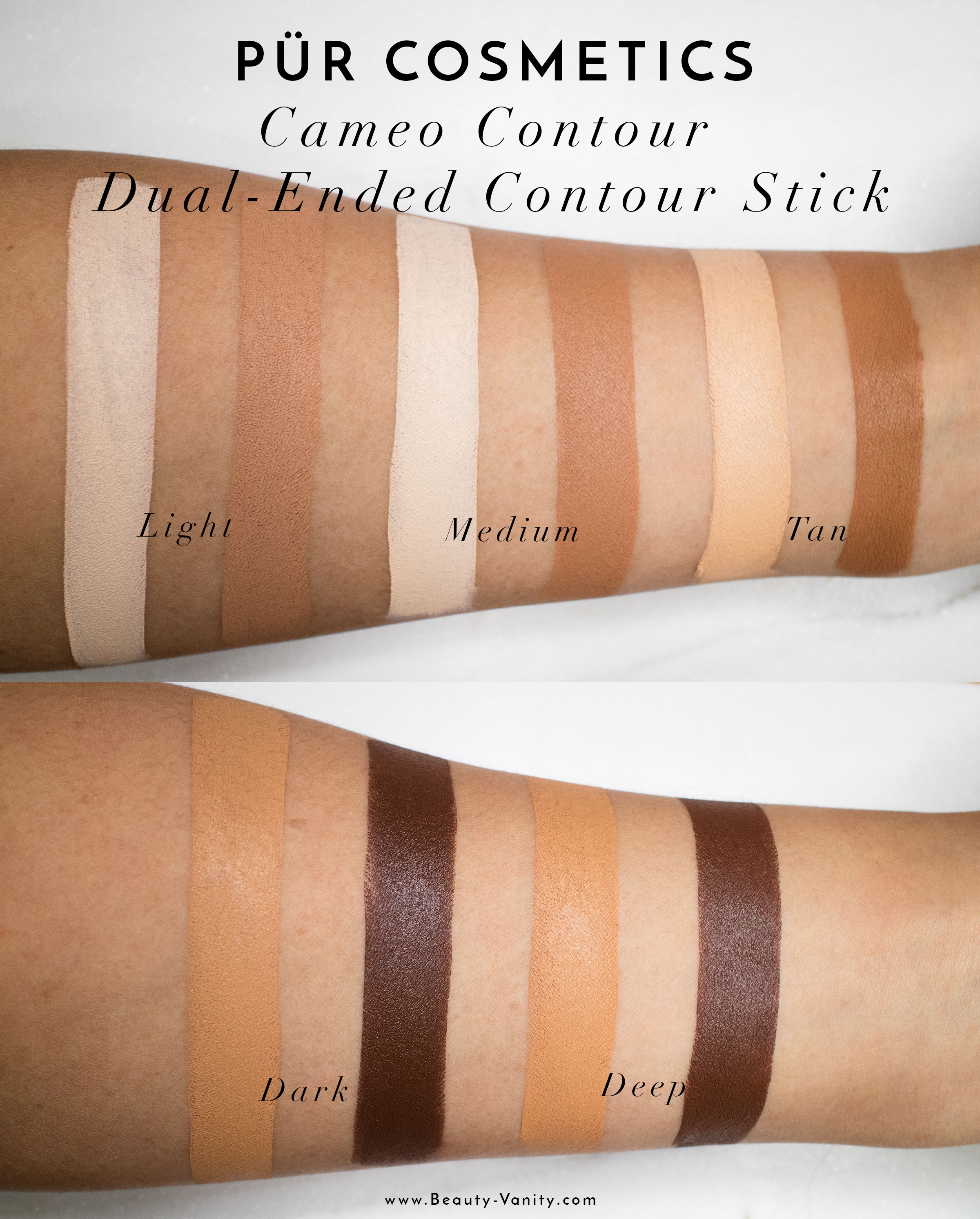 The Beauty Vanity | Pur Minerals Cameo Contour Stick Review Swatches