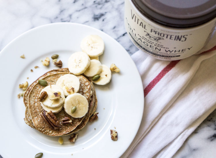 Low Carb Blender Banana Protein Pancakes