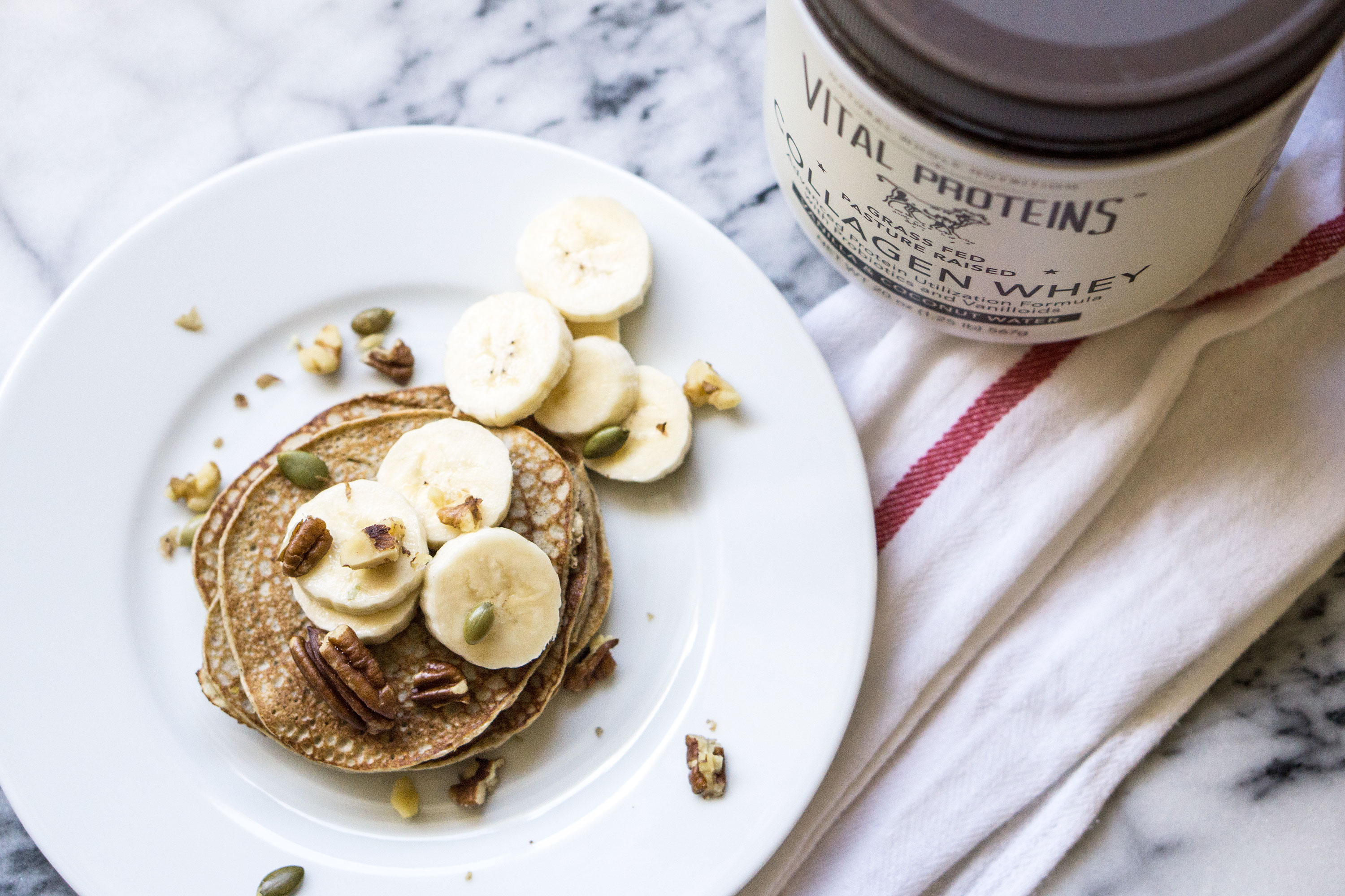 Vital Proteins Whey Collagen Low Carb Protein Banana Pancakes | The Beauty Vanity