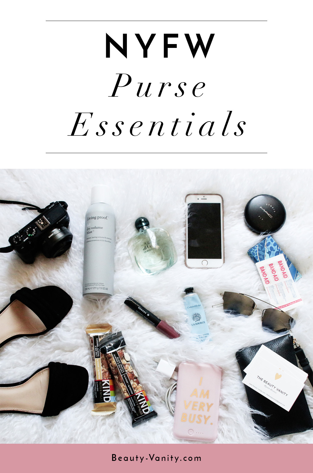 NYFW Purse Bag Essentials | The Beauty Vanity