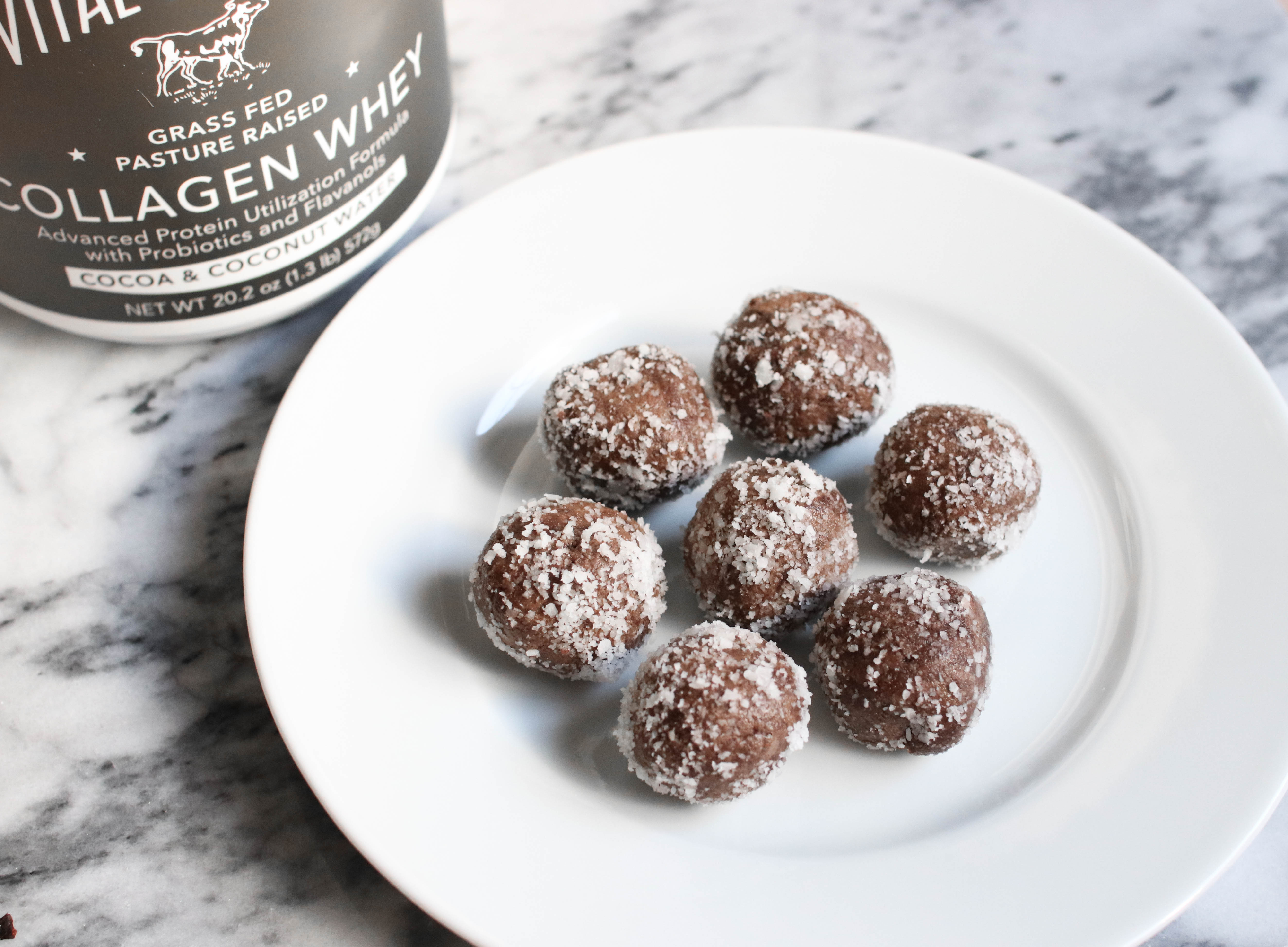 Vital Proteins Collagen Whey Cocoa Coconut Proteins Balls Recipe | The Beauty Vanity