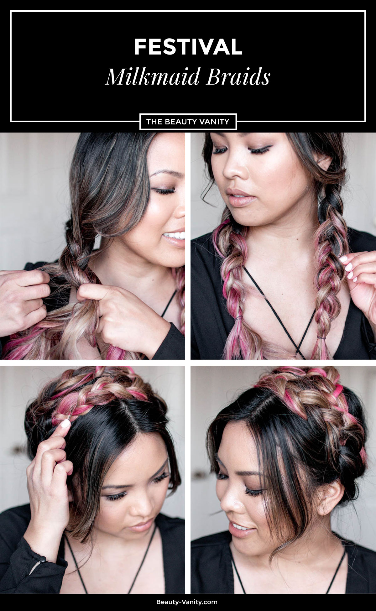 Festival Milkmaid Braid Tutorial | The Beauty Vanity