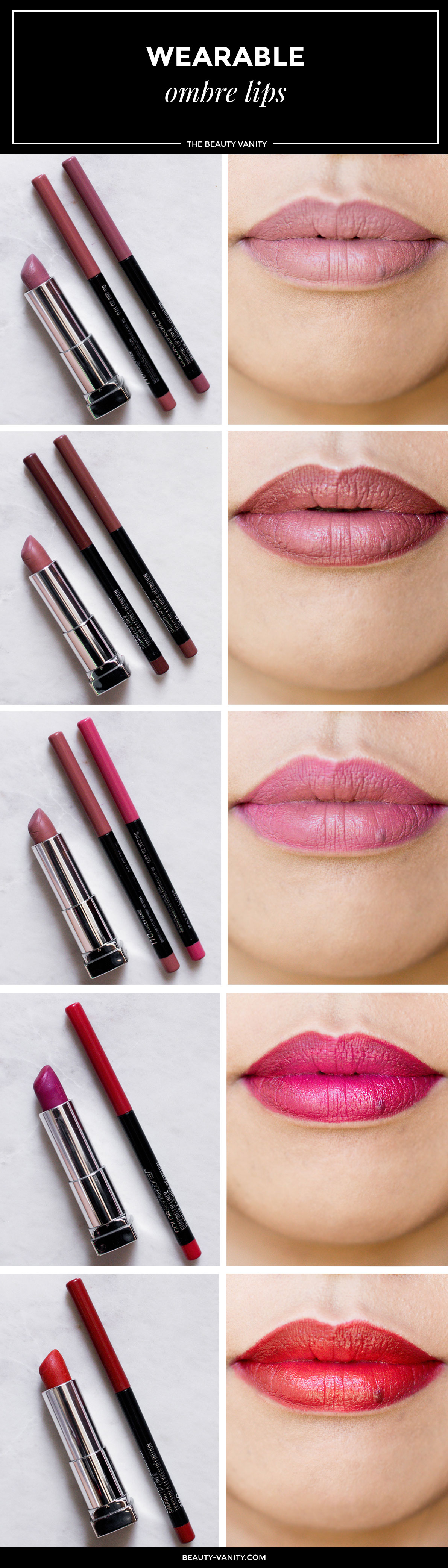 Wearable Ombre Lips To Wear To a Wedding Party | The Beauty Vanity