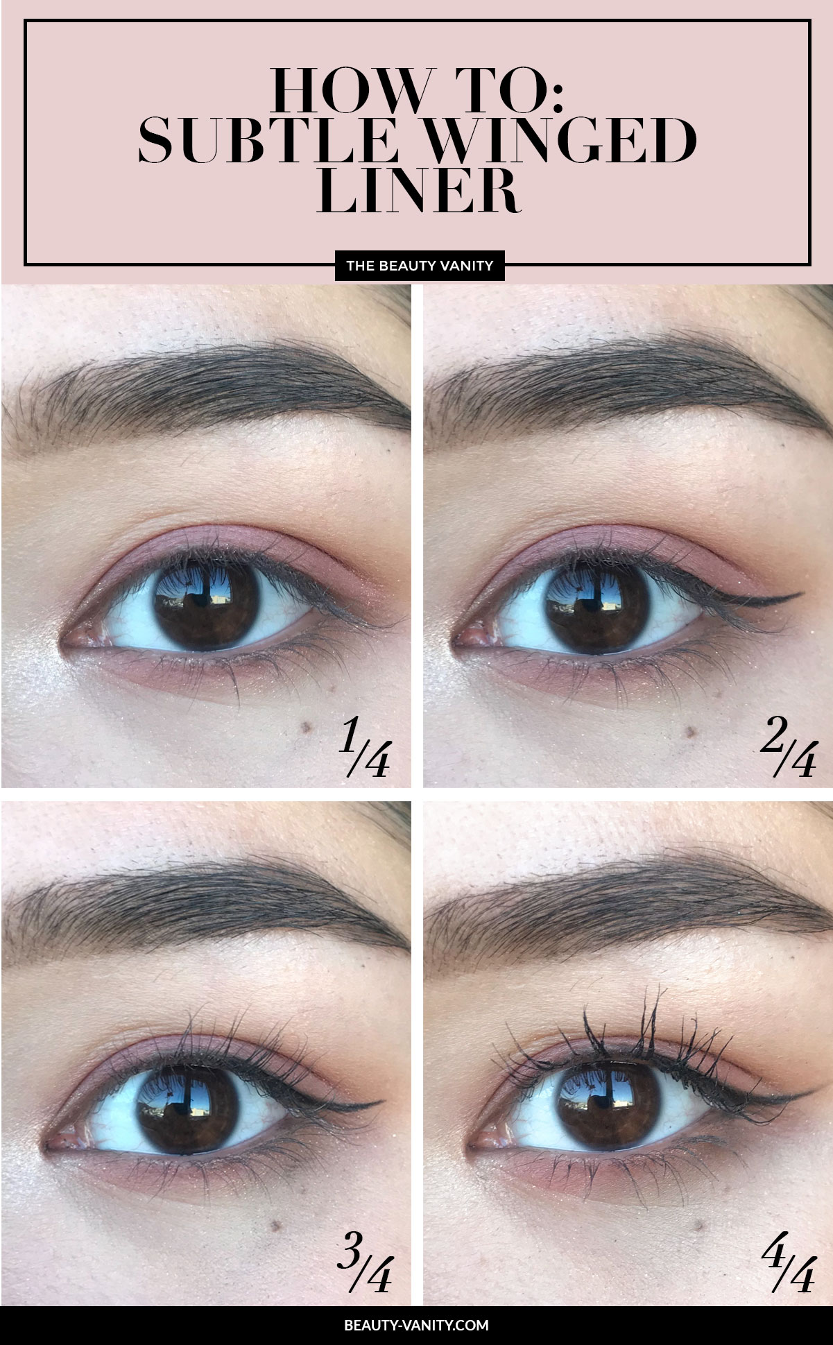 How to subtle winged liner hooded eyelids | The Beauty Lesson | The Beauty Vanity