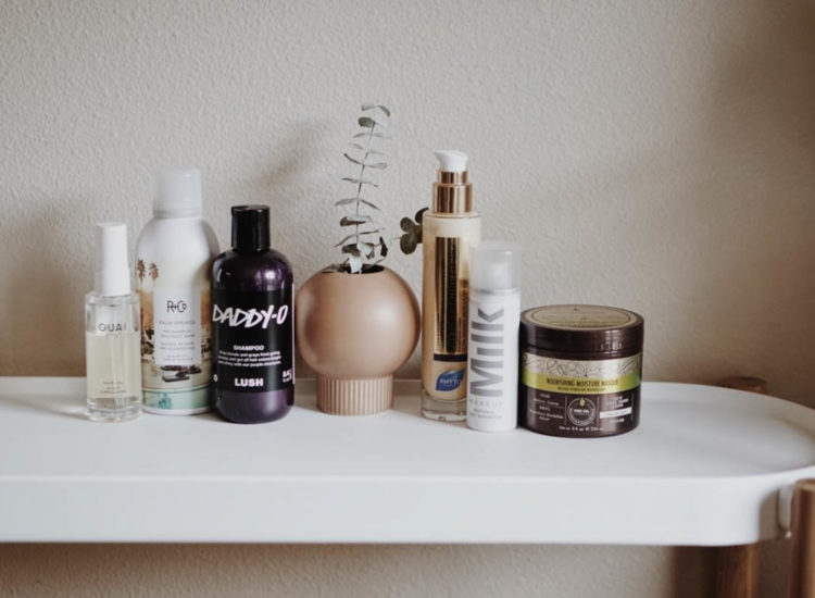 Best Hair Products for Colored Hair | LUSH Cosmetics Daddy-O shampoo | R+Co Palm Springs Pre-Shampoo Treatment Masque | Macadamia Hair Repair Mask | Phyto Phytokeratine Extreme Exceptional Cream | Ouai Hair Oil | MILK Makeup Dry Shampoo | The Beauty List | The Beauty Vanity