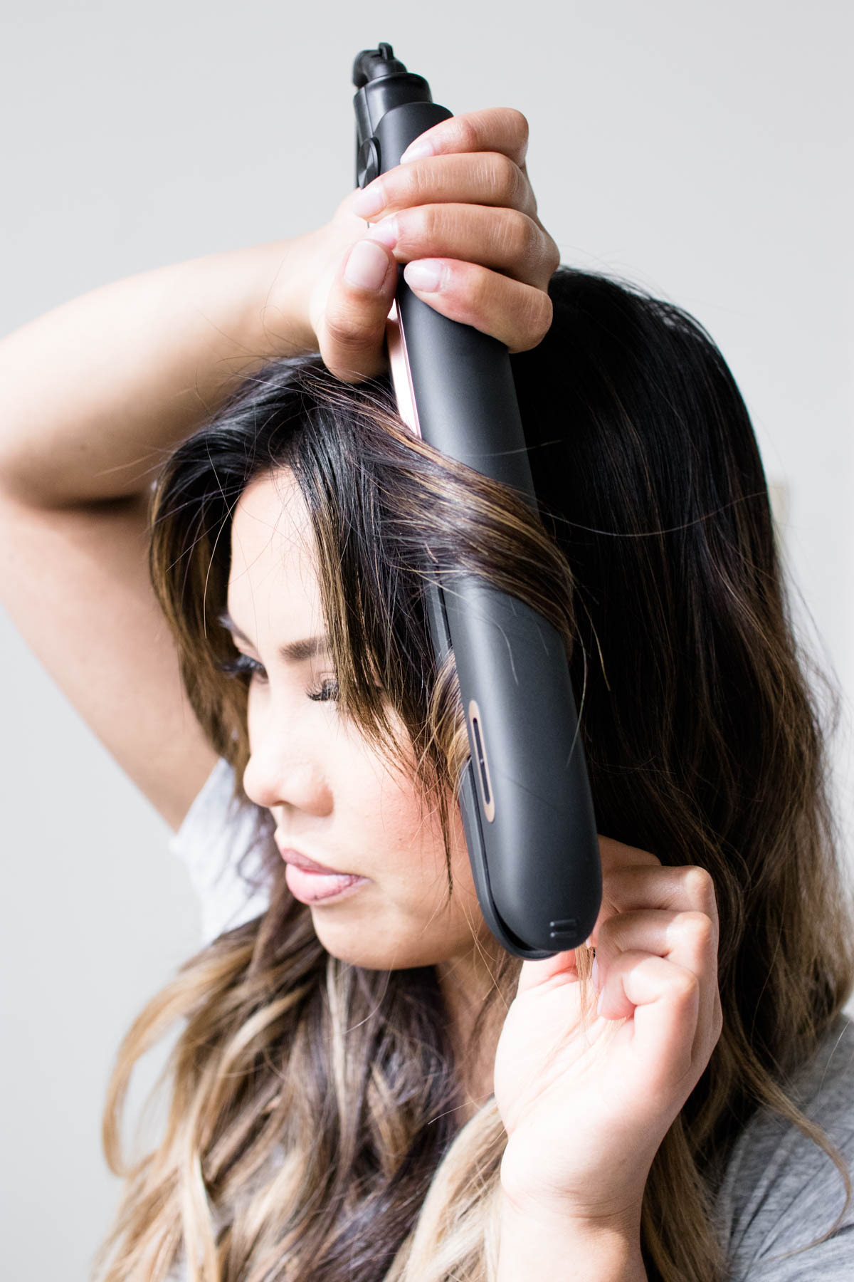 styling hair with flat iron how to curl hair using straightening iron wrap technique 2244 | Wrap Technique For Wavy Hair Panasonic nanoe Flat Iron Styling Iron Review 15